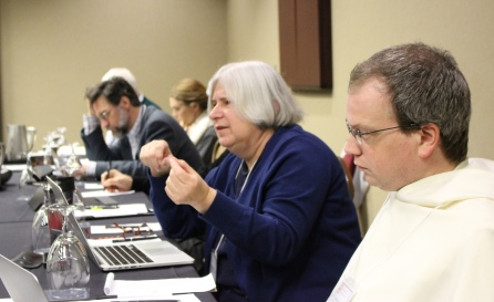 Nancy Snow at the December 2015 working group meeting of the scholars of Virtue, Happiness, & the Meaning of Life.